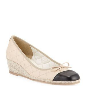 Sesto Meucci Madi Quilted Napa Wedges NWOT 9.5M